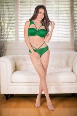 BRA & SPLIT PANTY GREEN M