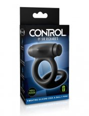SIR RICHARD'S CONTROL SILICONE COCK& BALL VIBRATING C RING