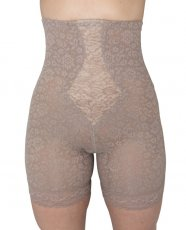 Rago Shapewear High Waist Long Leg Shaper Mocha 2X