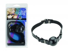 (WD) 1 1/2IN BLACK BALL GAG W/ RING