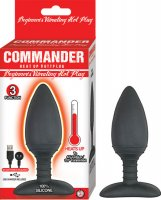 COMMANDER BEGINNER'S VIBRATING HOT PLUG-BLACK