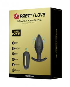 Pretty Love Regina Royal Pleasure Butt Plug - Black/Gold