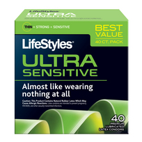 LIFESTYLES ULTRA SENSITIVE 40 PK