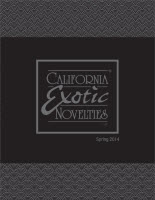 CALIFORNIA EXOTIC SPRING 2014 SUPPLEMENT