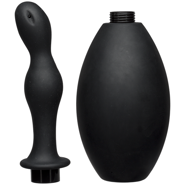 KINK FLOW FLUSH BLACK SIL ANAL DOUCHE & ACCESSORY