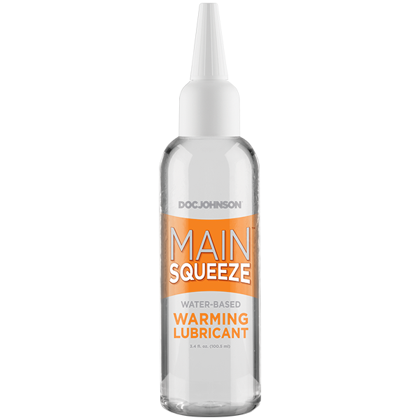 MAIN SQUEEZE WARMING WATER BASED LUBRICANT 3.4 OZ