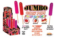 JUMBO FRUIT FLAVORED COCK POPS WATERMELON